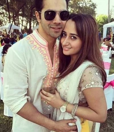 Natasha Dalal with spouse Varun Dhawan partying