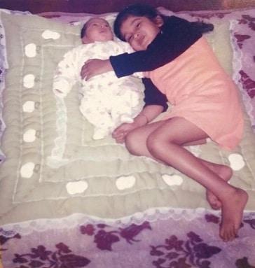 Nimrat & her brother Arpit