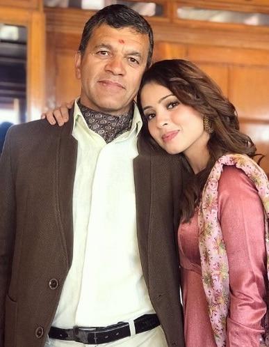 Richa Rathore & her father
