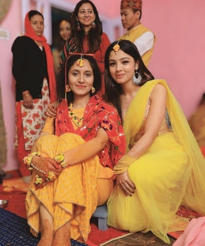 Richa Rathore with her sister