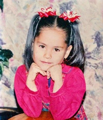 Andrea Meza Childhood photo
