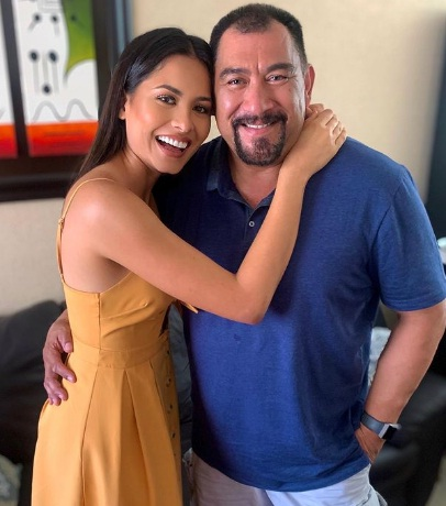 Andrea Meza & her father Santiago Meza
