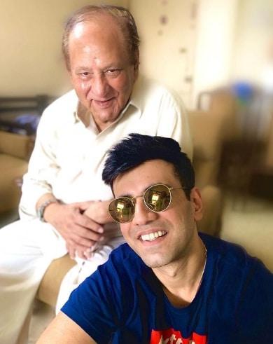 Karanvir Sharma with his father